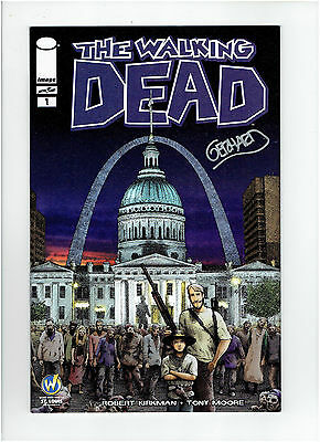 The Walking Dead #1 Wizard World St. Louis Exclusive Cover Signed Gerhard