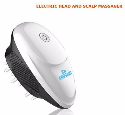 ANDVARI Head and Scalp Massager Battery Operated Electric Brush Relaxing Massage