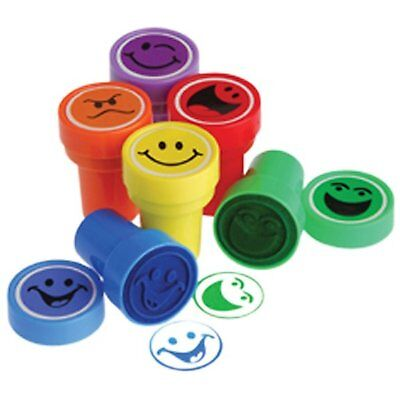 Lot Of 6 Assorted Color Smile Smiley Face Mini Stampers