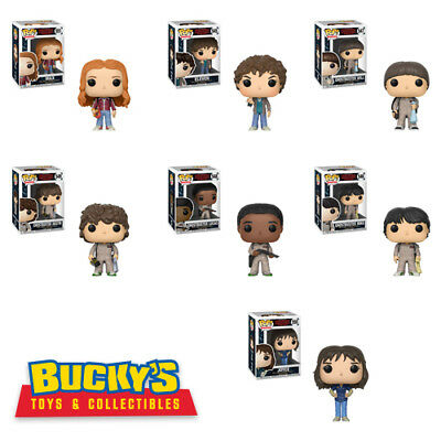 Funko Pop Stranger Things W3 Ghostbuster Will Dustin Lucas Max Joyce Mike Eleven