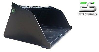 """NEW POWDER COATED 72"""" SNOW/MULCH/DIRT/GRAVEL BUCKET FOR SKID STEER Local Pick up"""