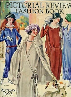 1923 PICTORIAL REVIEW FASHION BOOK (fashion catalog) Many flappers