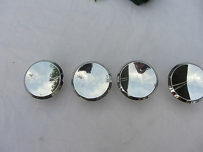 """4 Vintage Salvage  Ajax Chrome Drawer Pulls Knobs 2"""" Made In Usa"""