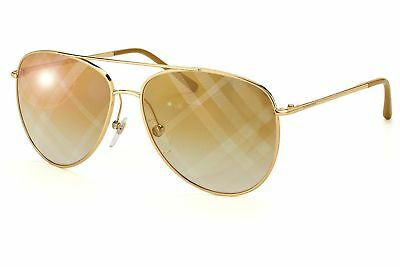 Burberry BE3072 1017B3 Women's, Gold Frame, Light Brown Mirror Bronze 57mm