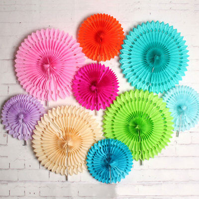 Paper Fans Flower Wedding Home Baby Shower Birthday Party Decor Supply 20/30CM