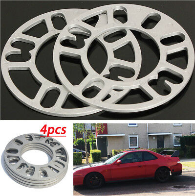 4 Pcs 5mm Alloy aluminum Wheel Spacers Adaptor Shims Plate Gasket for Auto Car