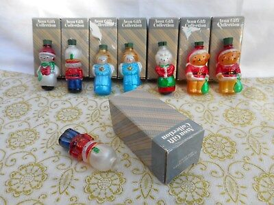 Vintage AVON Christmas Blown Glass Light Covers Ornaments LOT of 7 Extra Soldier