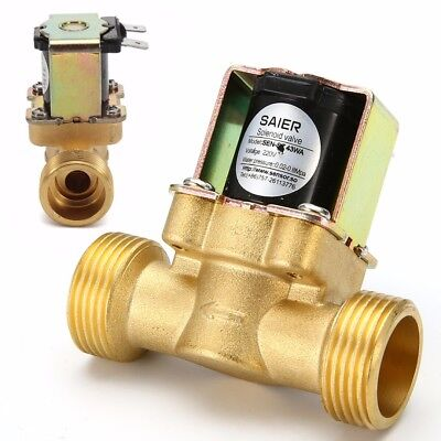 """220V 3/4"""" 2-Way Normally Closed Brass Electric Solenoid Valve for Water Oil Air"""