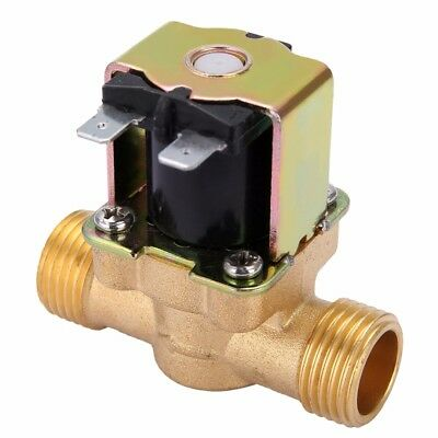 """12V 1/2"""" 2-Way N/C Normally Closed Brass Electric Solenoid Valve for Water Oil"""