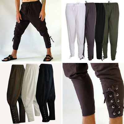 Men Outdoor Sports Running Ankle Banded Navigator Renaissance Pants Trousers