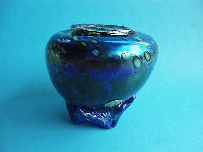 Colin Heaney Irridised Australian Art Glass Vase Cape Byron Studio 1991