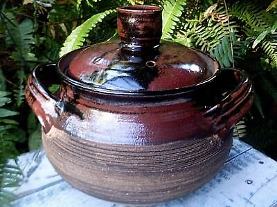 Retro DOROTHY MAYNARD Pottery Unique LARGE CASSEROLE DISH w/LID Kitchen In Aus
