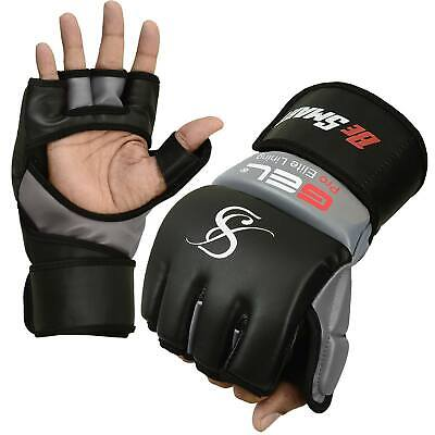 Authentic Rex Leather MMA Grappling Gloves UFC Fight Boxing Punch Bag Sparring F