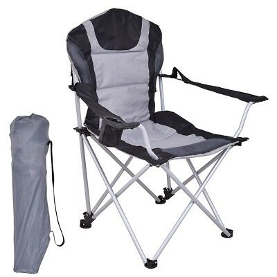 Portable Fishing Chair Seat W/Cup Holder Folding Outdoor Beach Picnic  Camping