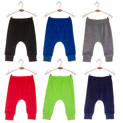 Baby Boys/Girls Velour Harem Leggings Trousers 0-24 Mths Soft Cosy Autumn/Winter
