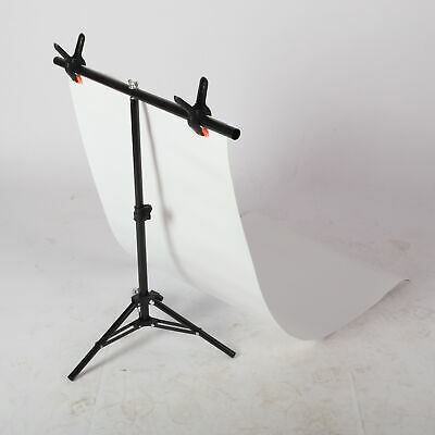 AU Adjustable Photography Support Stand + White PVC Backdrop Background + 3 Clip