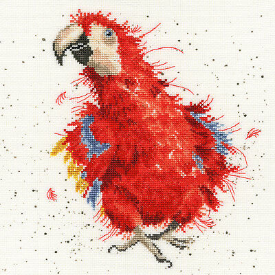 Bothy Threads Cross Stitch Kit - Parrot on Parade