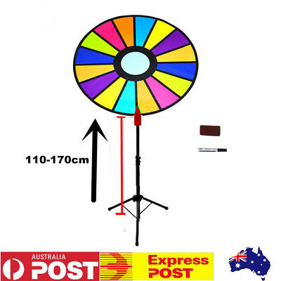 Dry Erase Spinning Prize Wheel Dia 60cm Color Spin Game with Floor Tripod Stand