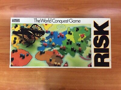 Vintage 1985 Board Game - Risk - The World Conquest Game - 100% Complete