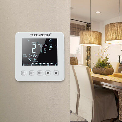 Floureon HY08WE Electric Heating Thermostat LCD Touch Screen +3m External Sensor