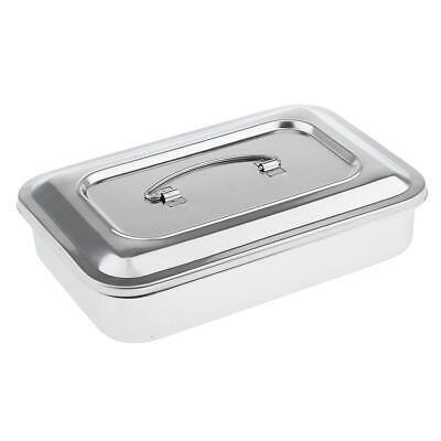 """9"""" Stainless Steel Surgical Instrument Dental Tools Box Disinfection Trays"""