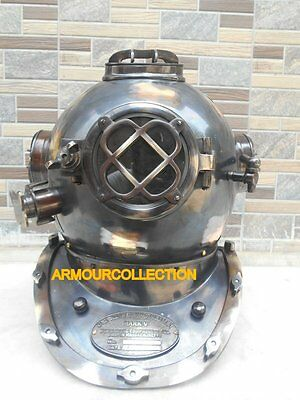 """Us Navy Diving Helmet Us Navy_Divers Collectibles Nautical 18"""" Gift Reproduct"""