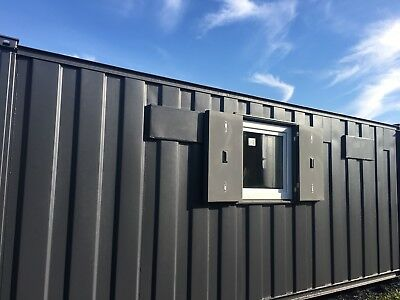 21ft x 9 ft Anti Vandal Site Office/Portable Building/Canteen + toilet bathroom