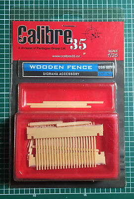 Calibre35 Calibre 35 D35007 - Wooden Fence - 1/35 Resin Kit