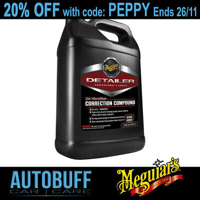 Meguiars DA Microfiber Correction Compound, D30001, 3.8L (1GAL)
