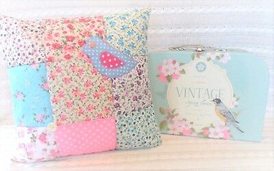 Patchwork Quilting Kit Ditsy Cushion Craft Kit Everything Included! Great Gift!