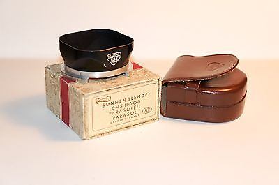 Rollei Rolleiflex Bay III Lens Hood with case and box for 2.8F, 2.8E, etc