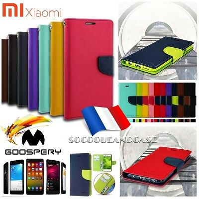 Etui housse coque Mercury Wallet Case XIAOMI Redmi Note 2 3 4 Mi 6, Mi Max ou 3s