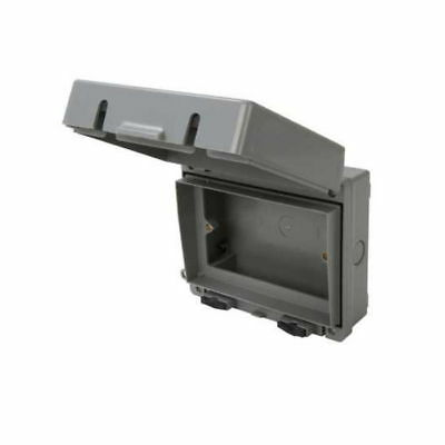 IP65 2 Gang Weatherproof Outdoor Socket & Switch Accessory Enclosure Box
