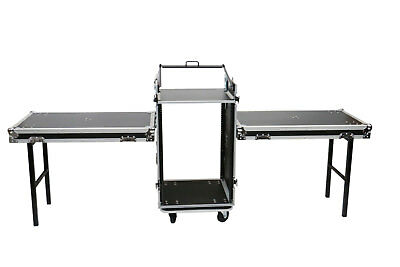 16 Space Mixer Amp Portable/Mobile DJ Road Tour Case 10u Top & 2 Tables by OSP