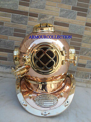 US Navy Mark V Marine Diving Divers Helmet BRASS COPPER DECORATIVE AWESOME Gift