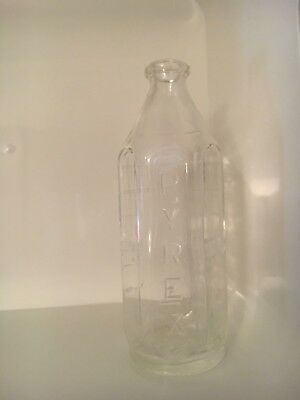 Pyrex Glass Baby Bottle Vintage 6 Sided Pre Owned USA