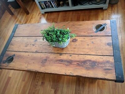 Hatch Cover Authentic WWII Liberty Ship Rustic Table Antique Coffee Table
