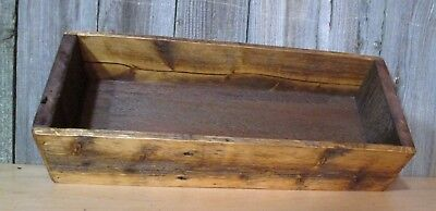 Primitive Barn Wood Rustic Wood Box Center Piece Reclaimed Crate Caddy Decor