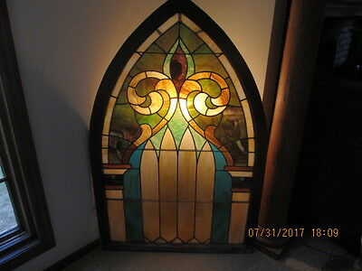Beautiful Large Antique Stained Glass Window