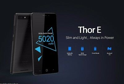 Vernee Thor E 4G SmartPhone Android7.0 OctaCore 3+16GB 13.0MP 5020mAh Cellulare