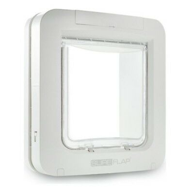SureFlap Microchip Pet Cat Door Large Cat Small Dog White 32 Identities RRP £129
