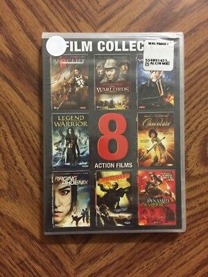 Action Films: 8 Film Collection (DVD, 2015, 3-Disc Set) Brand New Sealed