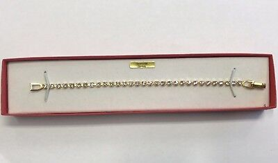 Stunning Vintage Estate Find Made With Swarovski Stones Goldtone Bracelet Nib A6