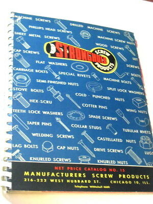 Vintage STRONGHOLD SCREW Store Trade Catalog 1945 Aviation Machine Wood