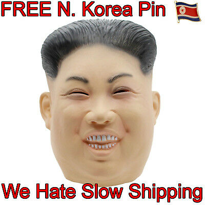 US SHIP++KIM JONG UN Halloween Costume Realistic Rocketman Adult Face Mask Latex