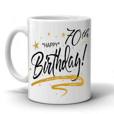 PERSONALISED 70th BIRTHDAY MUG GIFTS PRESENTS FOR HIM OR HER NOVELTY DAD MUM