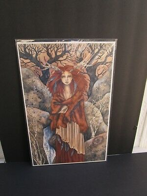 FOREST SPIRIT amy brown 11x17 2004 RARE OOP pagan fae  GOTH WICCA fairy HTF
