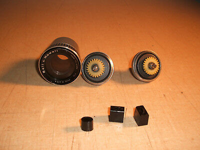 Bell & Howell 466A Dual 8mm Repair Spindles, Lens, & Knobs FREE SHIPPING