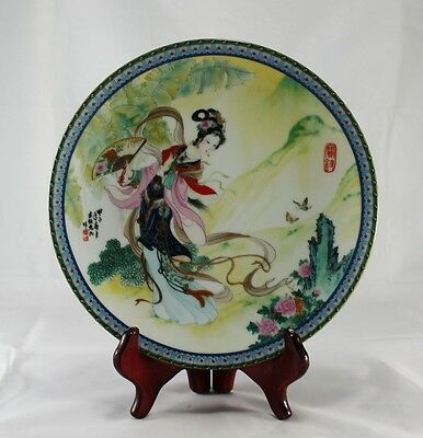 Chinese Imperial Jingdezhen Porcelain 1st Plate Beauties of the Red Mansion A2
