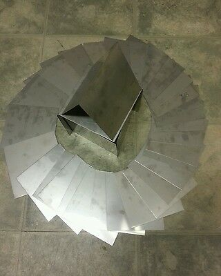 """430 stainless steel  square 8 pieces 24 gage  3"""" x 3"""" plate flat metal sheet TIG"""